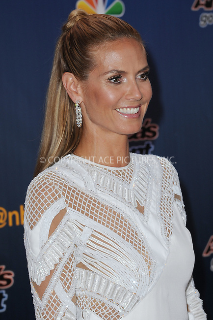 WWW.ACEPIXS.COM<br /> July 29, 2014 New York City<br /> <br /> Heidi Klum attending the 'America's Got Talent' red carpet arrivals at Radio City Music Hall in New York City on July 29, 2014.<br /> <br /> By Line: Kristin Callahan/ACE Pictures<br /> ACE Pictures, Inc.<br /> tel: 646 769 0430<br /> Email: info@acepixs.com<br /> www.acepixs.com<br /> Copyright:<br /> Kristin Callahan/ACE Pictures