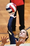 Althoff player Grace Strieker hits the ball over. Althoff lost to Minooka in the championship game of the O'Fallon Class 4A volleyball sectional at O'Fallon HS in O'Fallon, IL on November 6, 2019.<br /> Tim Vizer/Special to STLhighschoolsports.com