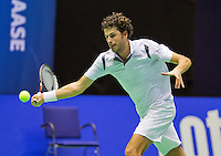 Rotterdam, Netherlands, December 18, 2015,  Topsport Centrum, Lotto NK Tennis, Robin Haase (NED)<br /> Photo: Tennisimages/Henk Koster