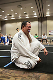 USA, Oahu, Hawaii, Jujitsu Martial Arts fighter Keith Chang after his loss to an opponent at the ICON grappling tournament in Honolulu