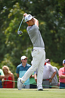 Kevin Na (USA) watches his tee shot on 9 during round 3 of the WGC FedEx St. Jude Invitational, TPC Southwind, Memphis, Tennessee, USA. 7/27/2019.<br /> Picture Ken Murray / Golffile.ie<br /> <br /> All photo usage must carry mandatory copyright credit (© Golffile | Ken Murray)