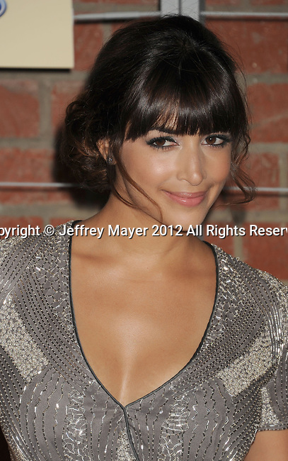 =Culver City=, CA - SEPTEMBER 10: Hannah Simone arrives at the FOX Fall Eco-Casino Party at The Bookbindery on September 10, 2012 in Culver City, California.