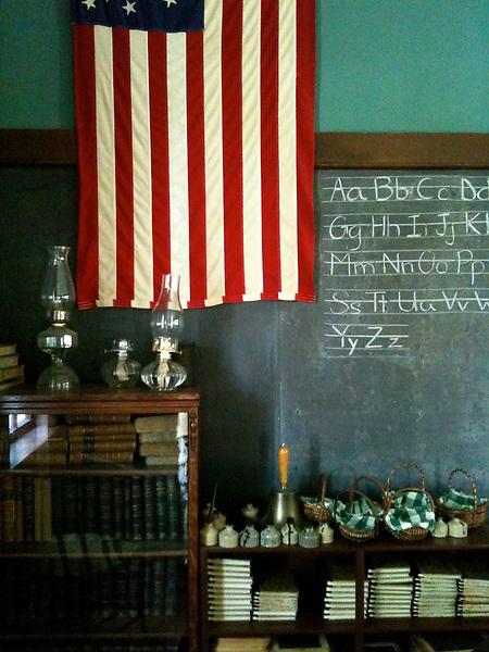 Americana.<br /> <br /> Flag in classroom, Dayton, Ohio.