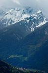 Snow capped peaks Pitztal area. Imst district, Tyrol, Tirol, Austria, the Alps.