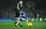 Ramiro Funes Mori of Everton is challenged by Jamie Vardy of Leicester City<br /> - Barclays Premier League - Everton vs Leicester City - Goodison Park - Liverpool - England - 19th December 2015 - Pic Robin Parker/Sportimage