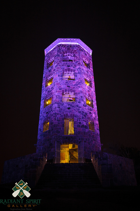 Enger Tower wears various colors throughout the year. On Independence Day, while the lights were shifting from blue to red, we enjoyed a purple tower.