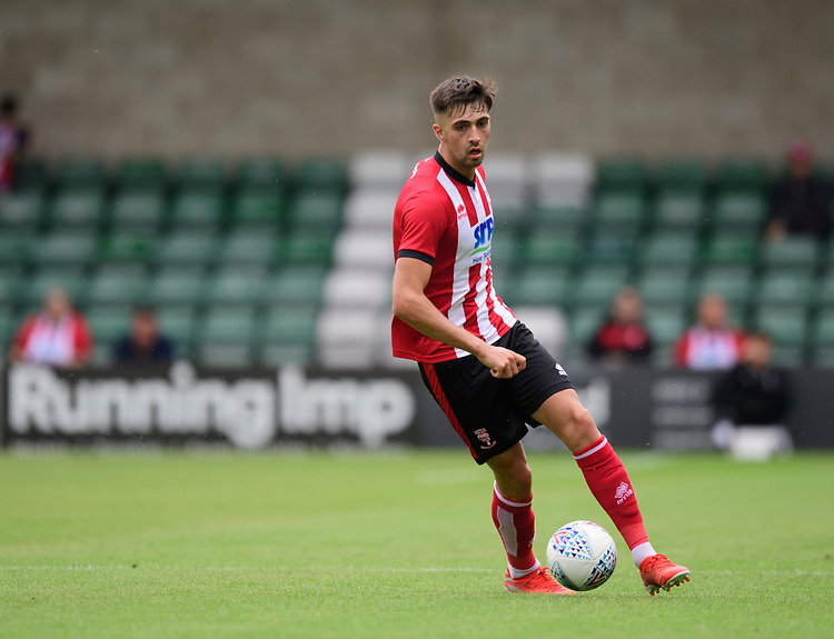 Lincoln City's Ellis Chapman<br /> <br /> Photographer Chris Vaughan/CameraSport<br /> <br /> Football Pre-Season Friendly - Lincoln City v Sheffield Wednesday - Saturday July 13th 2019 - Sincil Bank - Lincoln<br /> <br /> World Copyright © 2019 CameraSport. All rights reserved. 43 Linden Ave. Countesthorpe. Leicester. England. LE8 5PG - Tel: +44 (0) 116 277 4147 - admin@camerasport.com - www.camerasport.com
