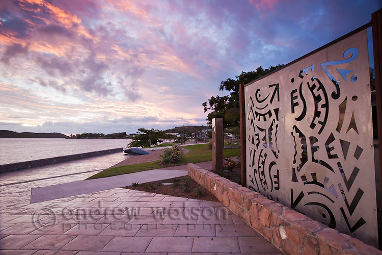 Victoria Parade foreshore at dusk.  Thursday Island, Torres Strait Islands, Queensland, Australia