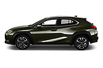 Car driver side profile view of a 2019 Lexus UX Privilege-Line 5 Door SUV
