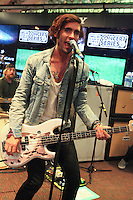 NEW YORK, NY - SEPTEMBER 10: Tyson Ritter of The All American Rejects performs live at the MLB Fan Cave Concert Series  on September 10, 2012 in New York City. &copy; Diego Corredor/MediaPunch Inc. /NortePhoto.com<br />