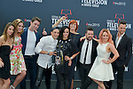 """Cast of """"Dance with the star"""" poses at a photocall for the TV series 'Dance with the star' during the 55th Monte Carlo TV Festival on June 13, 2015 in Monte-Carlo, Monaco"""