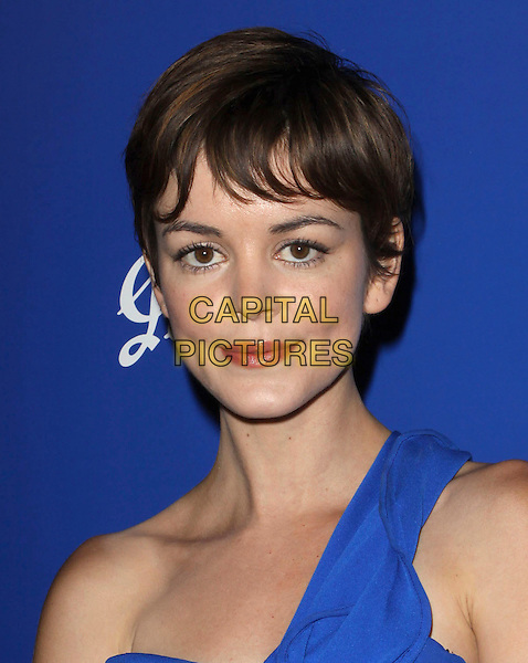 NORA ZEHETNER.Australians In Film's 2010 Breakthrough Awards held At The Thompson Hotel, Beverly Hills, California, USA..May 13th, 2010.headshot portrait blue one shoulder .CAP/ADM/KB.©Kevan Brooks/AdMedia/Capital Pictures.