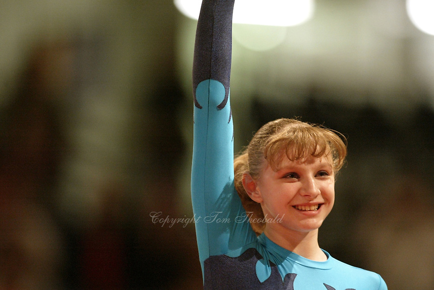 May 01, 2004; Amsterdam, Netherlands; ALINA KOZICH of Ukraine performs at 2004 European Championships Artistic Gymnastics.<br /> Mandatory Credit: Tom Theobald/ ZUMA Press.<br /> (&copy;) Copyright 2004 Tom Theobald