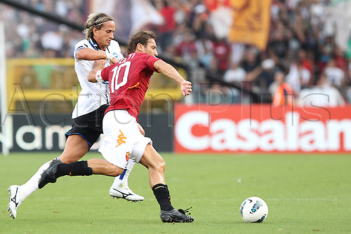 01.10.2011, Rome, Italy.   TOTTI In action during the Serie A match between AS Roma vs Atalanta, played in the Stadio Olimpico. Mandatory credit: Actionplus