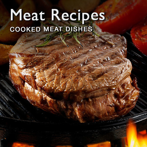 Food pictures & images of meat recipe dishes including poultry & beef