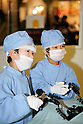 "KIDZANIA TOKYO, ""Edutainment City"",.children performing surgery at the Kidzania General Hospital."