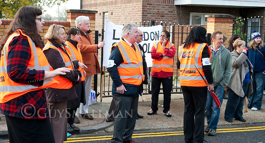 NUT strike at Langdon school Newham. 2-11-11