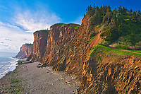 Cliffs along Bay of Fundy, Cape d'Or, Nova Scotia, Canada