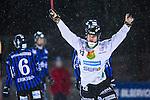 Uppsala 2014-01-12 Bandy  IK Sirius - GAIS Bandy :  <br />   GAIS Eric Claesson jublar efter att ha kvitterat till 2-2 <br /> (Foto: Kenta J&ouml;nsson) Nyckelord:  jubel gl&auml;dje lycka glad happy