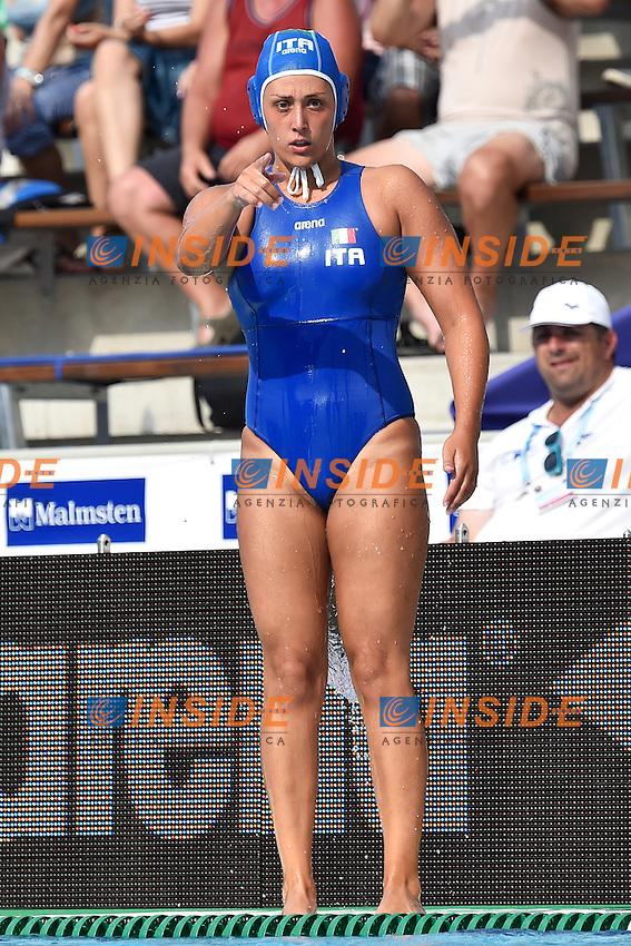 AIELLO Rosaria Italia  <br /> Italy - Russia / Italia - Russia <br /> LEN European Water Polo Championships 2014<br /> Alfred Hajos Swimming Complex<br /> Margitsziget - Margaret Island<br /> Day05 Women - July 18 <br /> Photo A.Staccioli/Insidefoto/