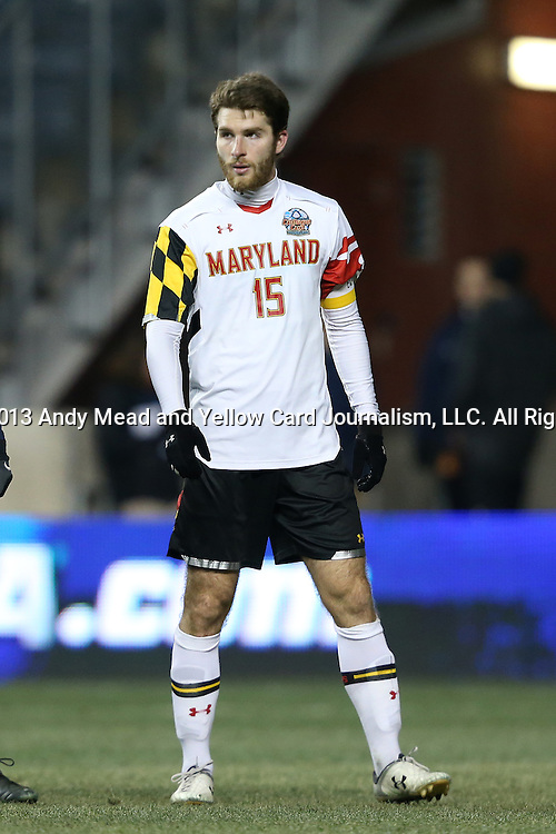 13 December 2013: Maryland's Patrick Mullins. The University of Maryland Terripans played the University of Virginia Cavaliers at PPL Park in Chester, Pennsylvania in a 2013 NCAA Division I Men's College Cup semifinal match. Maryland won the game 2-1.