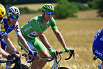 The peloton including Green Jersey leader Marcel Kittel (GER) Quick-Step Floors in action during Stage 4 of the 104th edition of the Tour de France 2017, running 207.5km from Mondorf-les-Bains, Luxembourg to Vittel, France. 4th July 2017.<br /> Picture: ASO/Pauline Ballet | Cyclefile<br /> <br /> <br /> All photos usage must carry mandatory copyright credit (&copy; Cyclefile | ASO/Pauline Ballet)