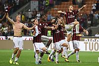 Milano 27-08-2017 Stadio Giuseppe Meazza in San Siro Calcio Serie A 2017/2018 Milan - Cagliari Foto Imagesport/Insidefoto <br /> nella foto: esultanza a fine gara Milan