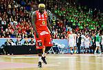 ****BETALBILD**** <br /> Uppsala 2015-04-24 Basket SM-Final 3 Uppsala Basket - S&ouml;dert&auml;lje Kings :  <br /> Uppsalas Brice Massamba deppar under matchen mellan Uppsala Basket och S&ouml;dert&auml;lje Kings <br /> (Foto: Kenta J&ouml;nsson) Nyckelord:  Basket Basketligan SM SM-final Final Fyrishov Uppsala S&ouml;dert&auml;lje Kings SBBK depp besviken besvikelse sorg ledsen deppig nedst&auml;md uppgiven sad disappointment disappointed dejected