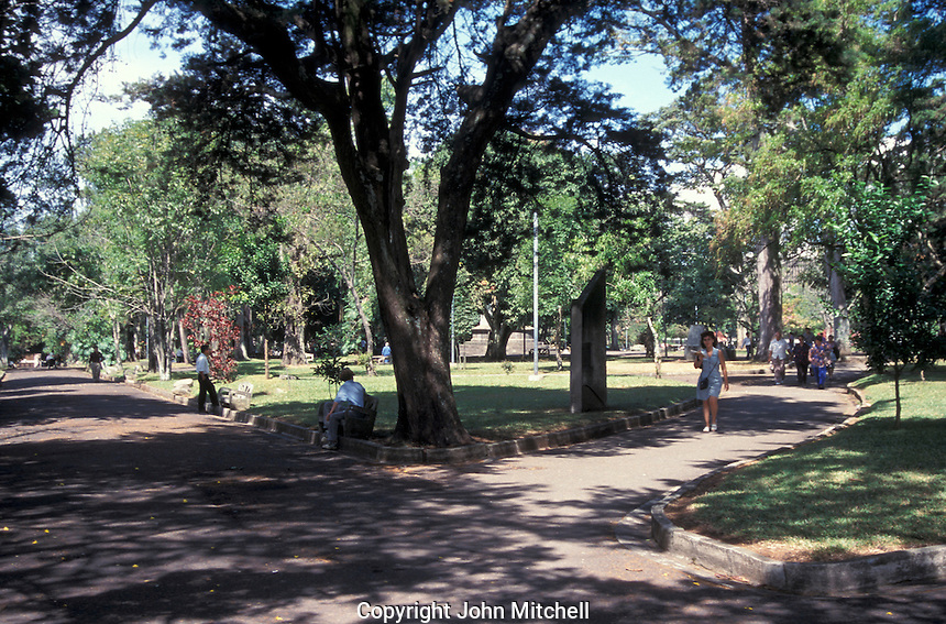 People in the Parque Nacional in downtown San Jose, Costa Rica