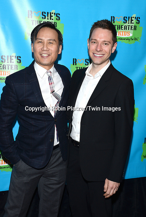 BD Wong and Tim Federle attends Rosie O'Donnell's 11th Annual Rosie's Theater Kids Gala on September 22, 2014 at The New York Marriott Marquis in New York City. <br /> <br /> photo by Robin Platzer/Twin Images<br />  <br /> phone number 212-935-0770