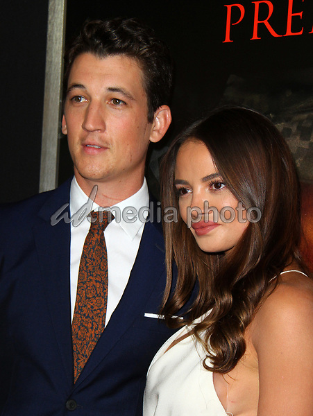 """23 October 2017 - Los Angeles, California - Miles Teller and Keleigh Sperry. """"Thank You For Your Service"""" Premiere held at the Regal L.A. Live Theatre in Los Angeles. Photo Credit: AdMedia"""