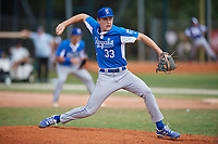 Ben Grable (33) during the WWBA World Championship at the Roger Dean Complex on October 13, 2019 in Jupiter, Florida.  Ben Grable attends Flintridge Preparatory High School in Pasadena, CA and is committed to Northwestern.  (Mike Janes/Four Seam Images)