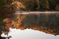Fall color at Ackerman Lake in Alger County Michigan.