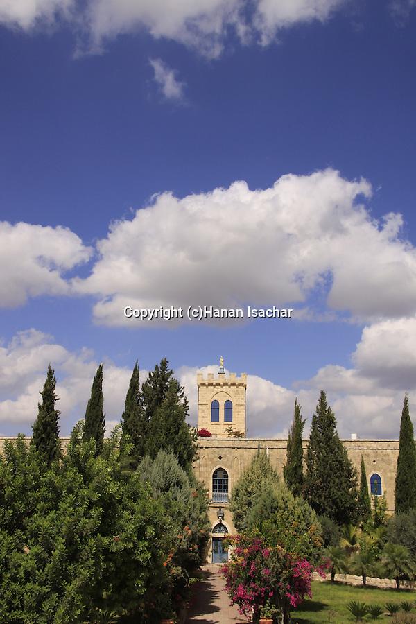 Israel, Shephelah, the Salesian Monastery at Beit Gemal built in 1873