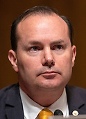 United States Senator Mike Lee (Republican of Utah) listens during the US Senate Committee on the Judiciary meeting to vote on the nomination of Judge Brett Kavanaugh to be Associate Justice of the US Supreme Court to replace the retiring Justice Anthony Kennedy on Capitol Hill in Washington, DC on Friday, September 28, 2018.  If the committee votes in favor of Judge Kavanaugh then it goes to the full US Senate for a final vote.<br /> Credit: Ron Sachs / CNP<br /> (RESTRICTION: NO New York or New Jersey Newspapers or newspapers within a 75 mile radius of New York City)