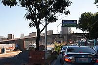 BELO HORIZONTE, MG, 07042014 _ VIADUTO EM OBRA _ Viaduto que desabou hoje em Belo Horizonte fotografado durante visita da presidente Dilma para assinatura de contrato das obras do Aeroporto e deste acesso, 07. (Foto: Sergio Falci/Brazil Photo Press).
