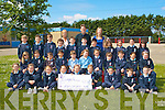 COMMUNION CHAIRTY: The students and teachers of Ardfert NS who presented a cheque for EUR862.50 to Sean Scally of Enable Ireland from part of their First Holy Communion money at Ardfert NS on Thursday.