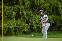 Jon Rahm (ESP) chips in from off the green on 15 during 1st round of the World Golf Championships - Bridgestone Invitational, at the Firestone Country Club, Akron, Ohio. 8/2/2018.<br /> Picture: Golffile | Ken Murray<br /> <br /> <br /> All photo usage must carry mandatory copyright credit (&copy; Golffile | Ken Murray)