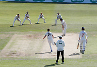 Carlson of Glamorgan is caught by Sean Dickson off the bowling of Matt Henry during the Specsavers County Championship division two game between Kent and Glamorgan at the St Lawrence Ground, Canterbury, on Sept 18, 2018