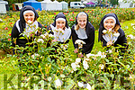 """New band in town """"Nuns and Roses"""" Michelle King, Shona Houlihan, Susan Kelly and Aisling Foley all from the Rose Hotel gathering in an attempt to break the Guinness World Record in the Tralee Town Park's fundriaser for the Tralee Rowing Club and Pieta House on Saturday."""