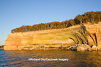64745-00216 Pictured Rocks National Lakeshore in fall from Lake Superior near Munising MI