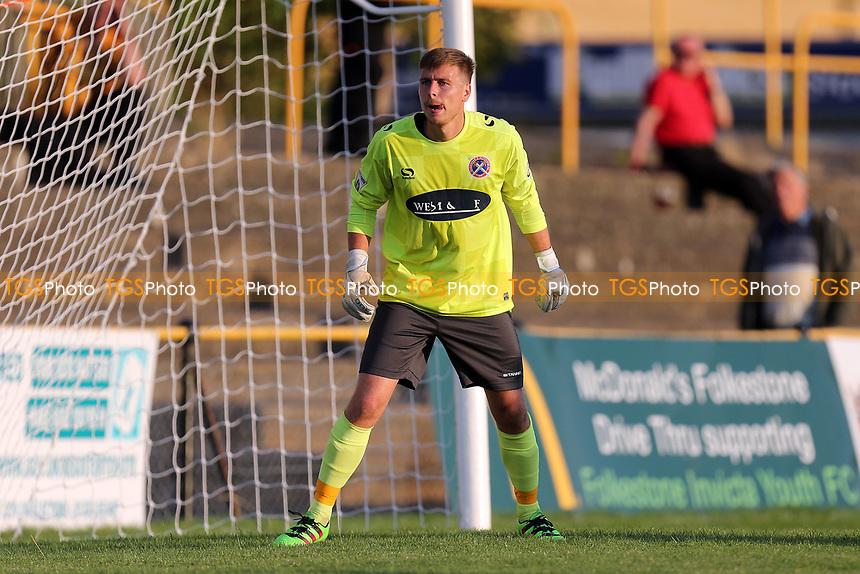 Lewis Moore of Dagenham during Folkestone Invicta vs Dagenham & Redbridge, Friendly Match Football at Cheriton Road Sports Ground on 31st July 2017