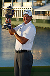 DORAL, FL. - Phil Mickelson with the winner's tropy at the 2009 World Golf Championships CA Championship at Doral Golf Resort and Spa in Doral, FL. on March 15, 2009