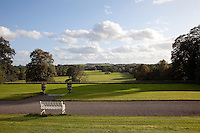 The formal lawns and gravelled paths of Tullynally give way to parkland beyond the ha-ha