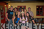 End of Season barbeque:  the North Kerry Harriers held their party at the Tatch, Lisselton on Saturday night. Pictured are: Emer O' Connor, Sinead Johnson and Emily Vial. Back: Neilus Flaherty, Mike Blake, Bernadette Hanrahan, Colette O' Connor and Jimmy Foley.