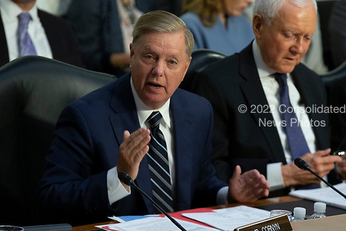 Senator Lindsey Graham, Republican of South Carolina, gives his opening statement during the confirmation hearing of Judge Brett Kavanaugh before the United States Senate Judiciary Committee on his nomination as Associate Justice of the US Supreme Court to replace the retiring Justice Anthony Kennedy on Capitol Hill in Washington, DC on Tuesday, September 4, 2018.Credit: Alex Edelman / CNP