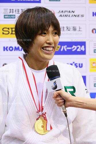 Yuka Osumi,<br /> APRIL 5, 2014 - Judo : <br /> All Japan Selected Judo Championships <br /> Women's -63kg Final<br /> at Fukuoka Convention Center, Fukuoka, Japan. <br /> (Photo by Yohei Osada/AFLO SPORT) [1156]