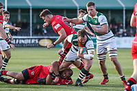 Jordan ELS of Ealing Trailfinders during the Greene King IPA Championship match between Ealing Trailfinders and Jersey Reds at Castle Bar , West Ealing , England  on 22 December 2018. Photo by David Horn.