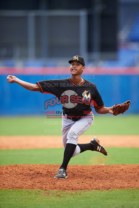 Miami Marlins pitcher Aneury Osoria (99) during an Instructional League game against the New York Mets on September 29, 2016 at the Port St. Lucie Training Complex in Port St. Lucie, Florida.  (Mike Janes/Four Seam Images)