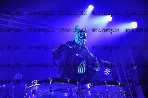 MUSHROOMHEAD - bassist Ryan Farrell - performing live at the Electric Ballroom in London UK - 30 Mar 2016.  Photo credit: Zaine Lewis/IconicPix